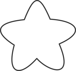 Bold Star Outline Clip Art at Clker.com.