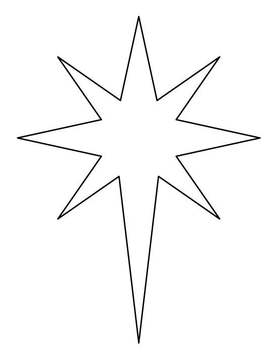 Star of bethlehem clipart black and white 5 » Clipart Portal.