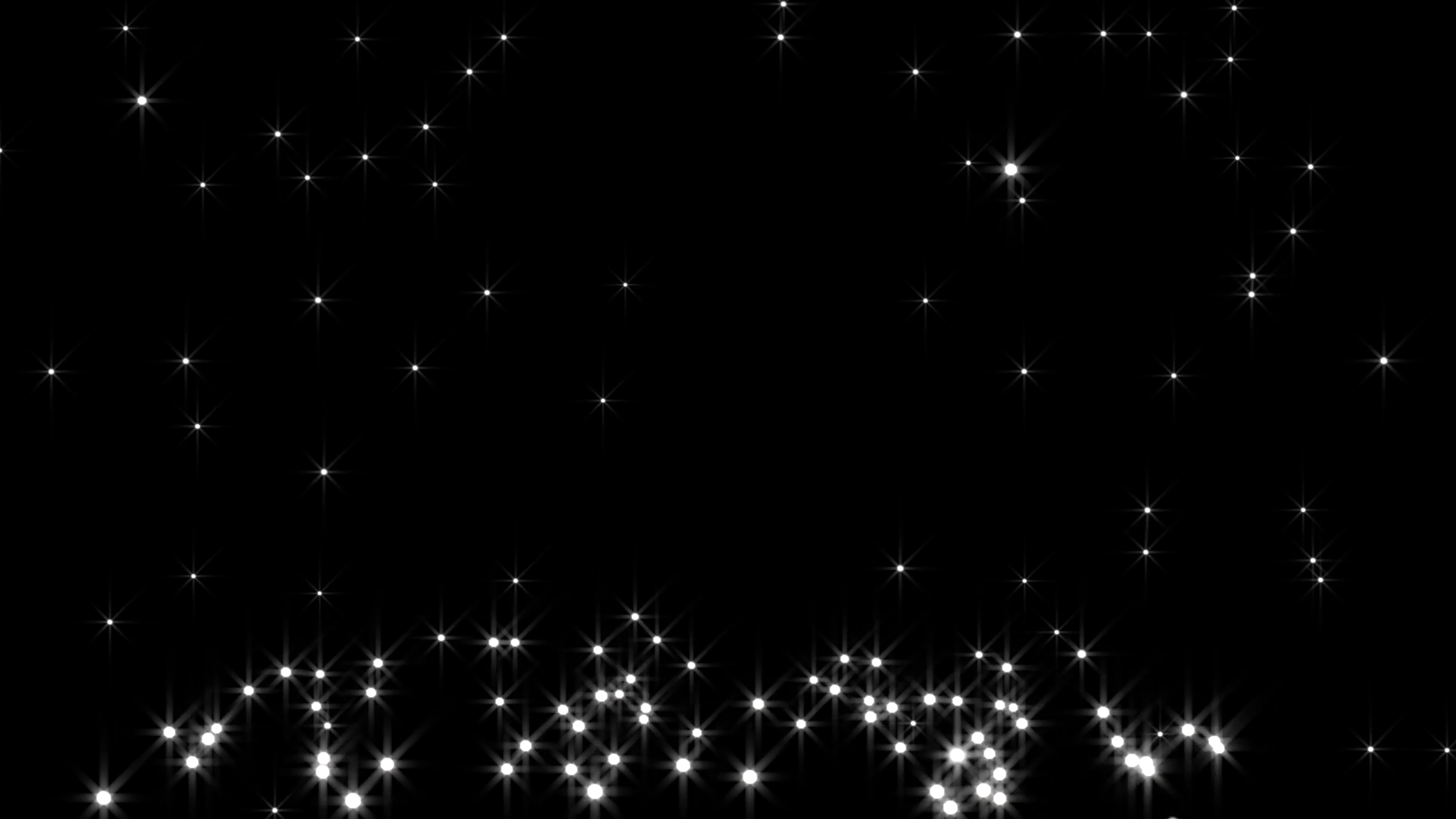 White glowing star particle in random direction 3D render abstract  background animation motion graphic with copy space on black background  Motion.