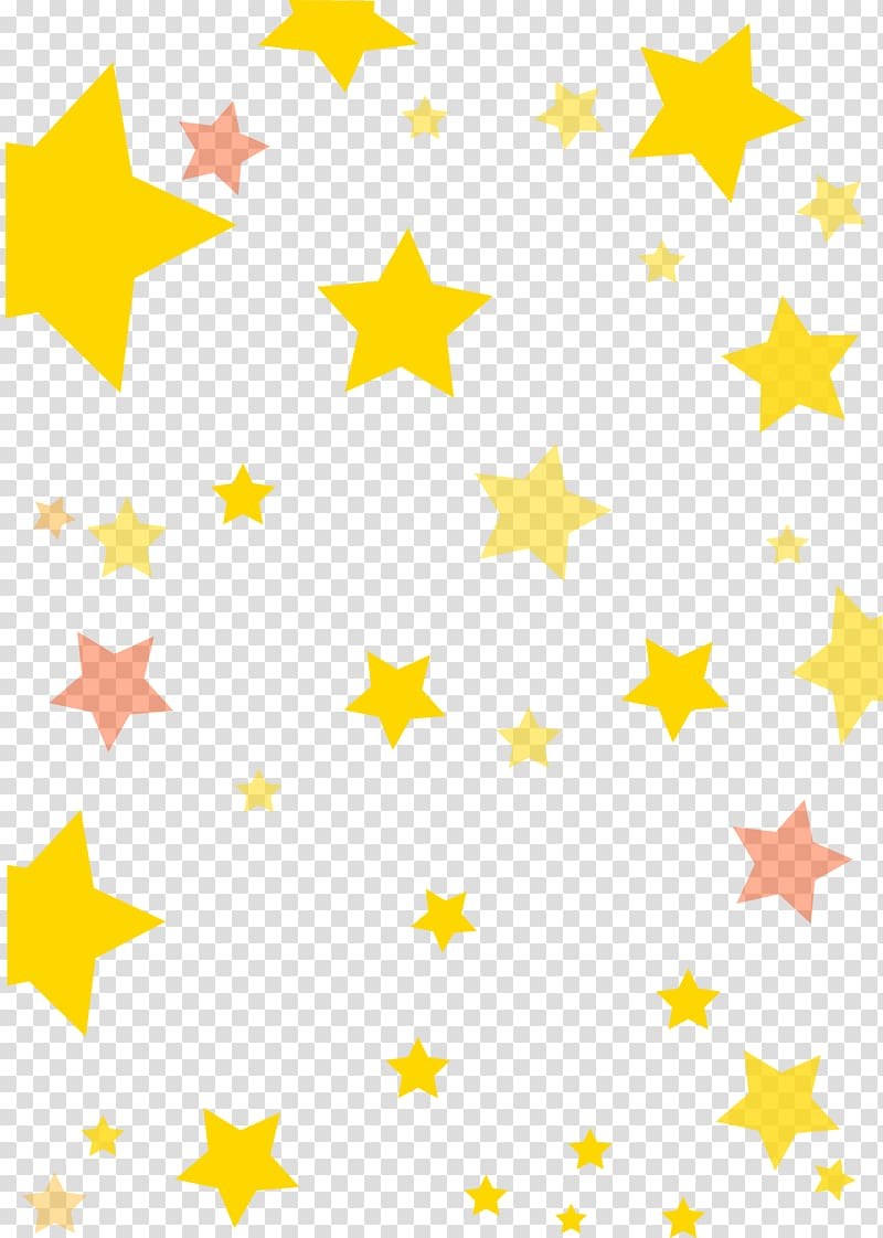 Yellow and brown stars illustration, Star pattern.