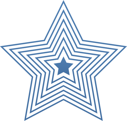 Concentric pentagon star.