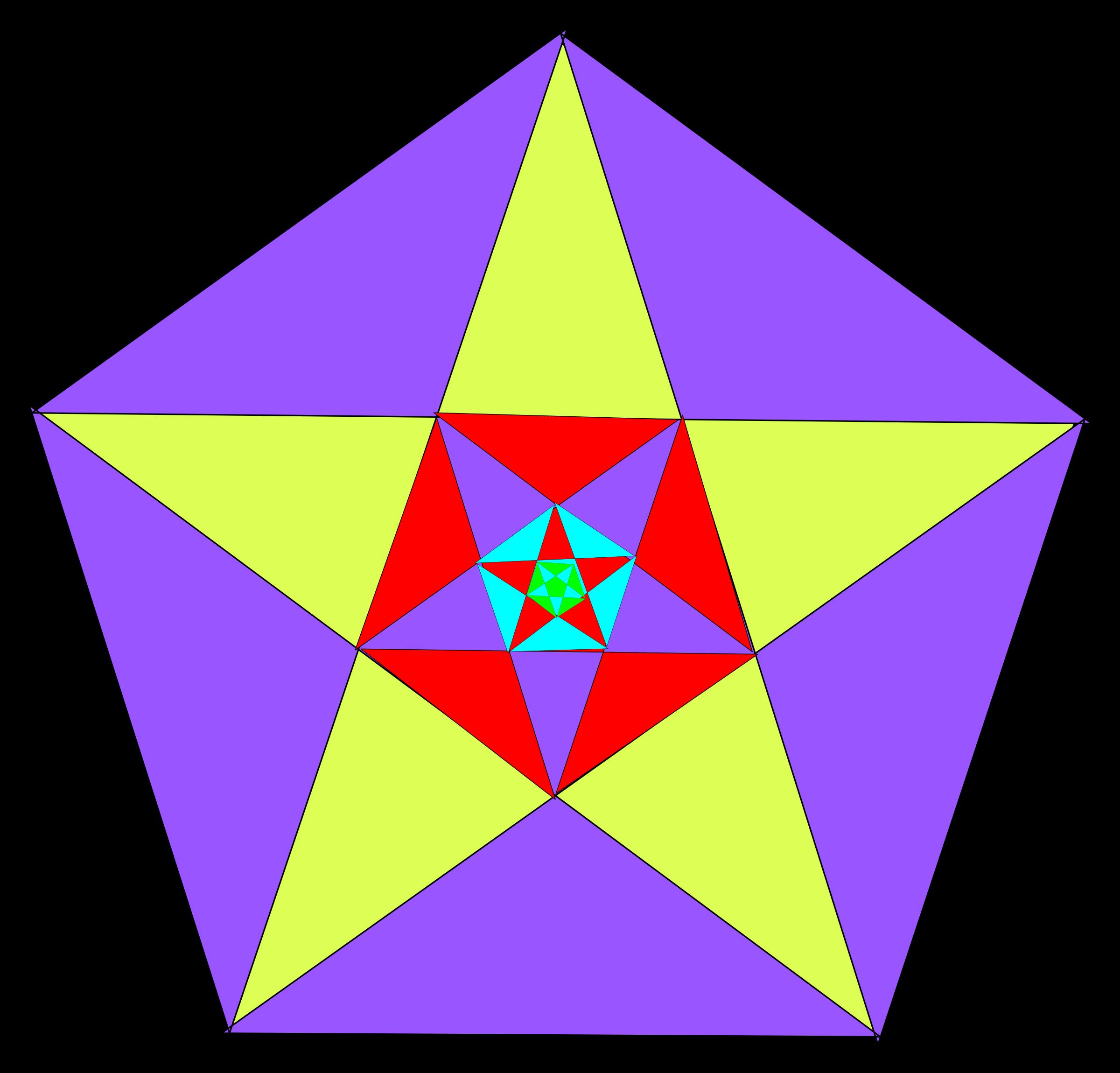 Pentagon Clip Art Stars.