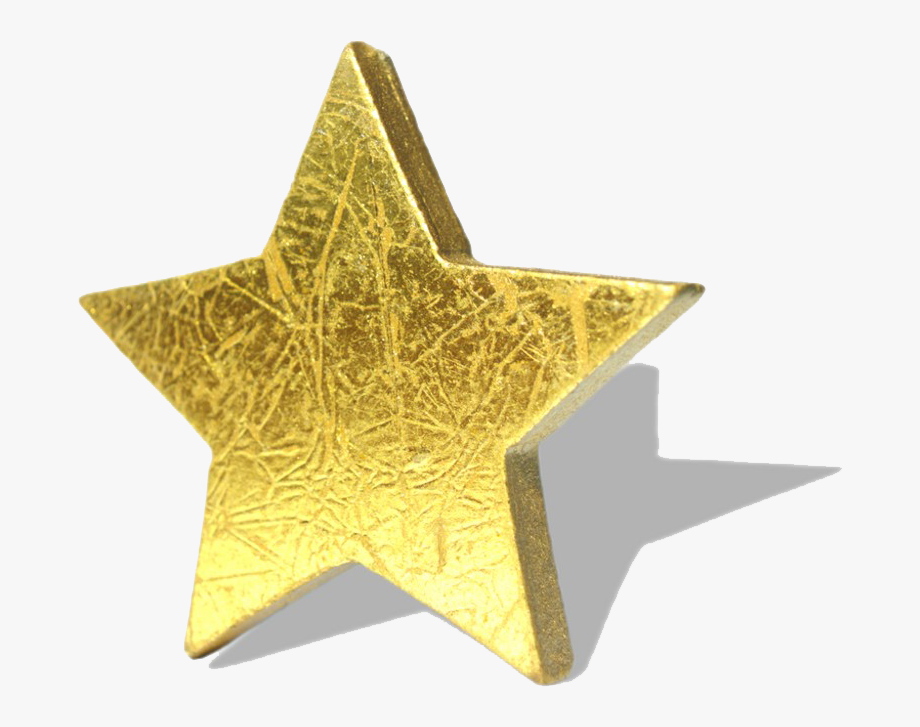 Gold Star Png.
