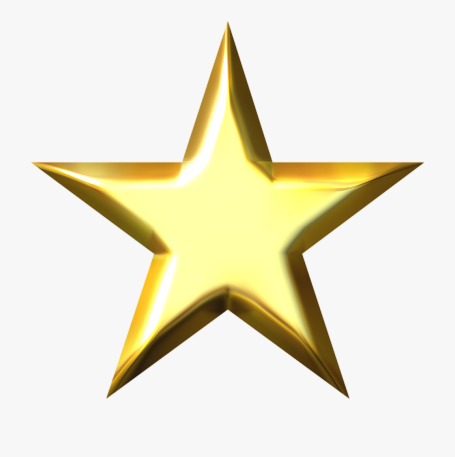 Party Transparent Gold Star.