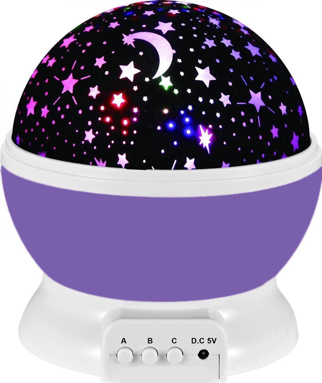 Baby Night Light Lamp Uinstone Moon Star Projector 360 Degree R.