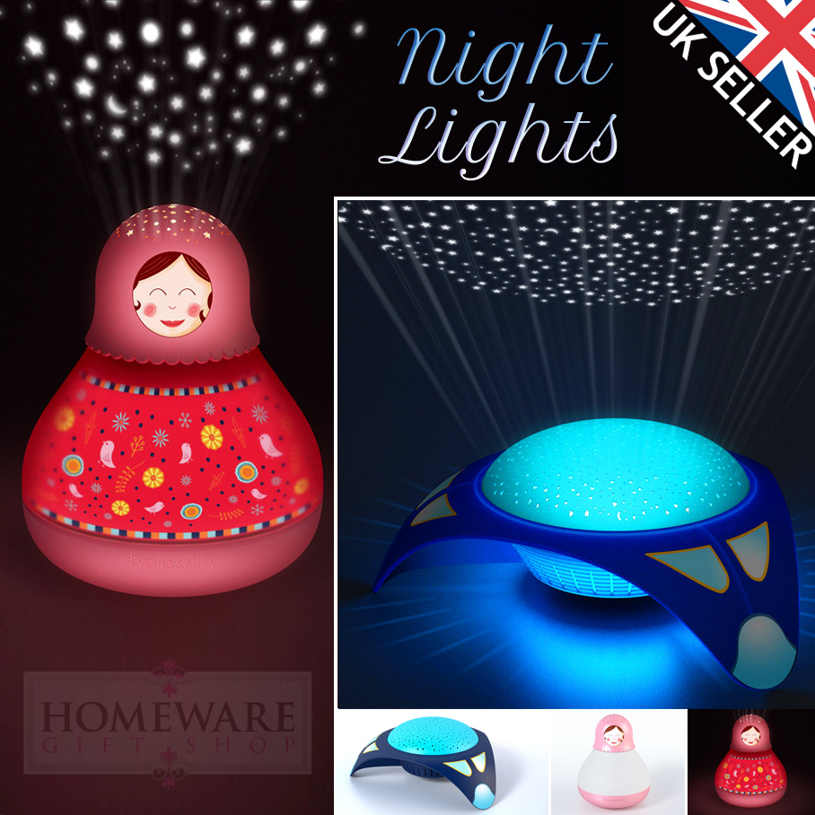 TROUSSELIER SOOTHING MUSICAL NIGHT LIGHT. SPACESHIP OR MATRIOCHKA.
