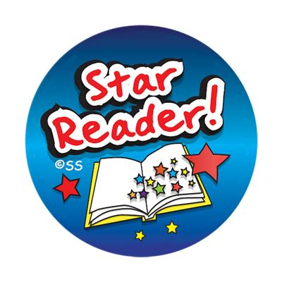 Star Reader stickers. 125 stickers per pack (28mm).