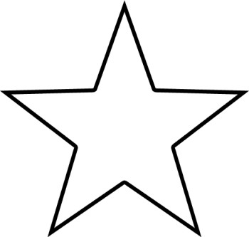 Star Shaped Frame Clipart.