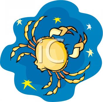 Cancer zodiac clipart.