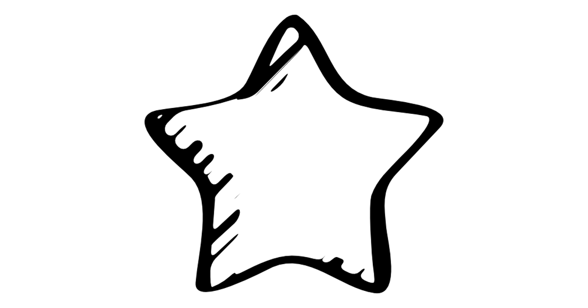 Star sketched favourite symbol.