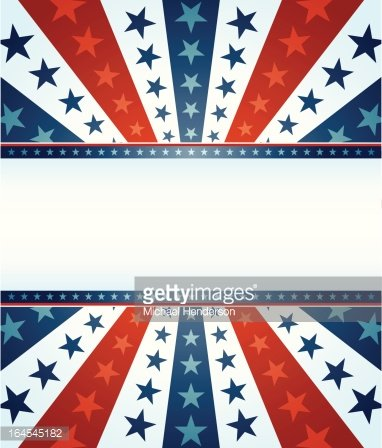 Star Spangled Banner Clipart Image.