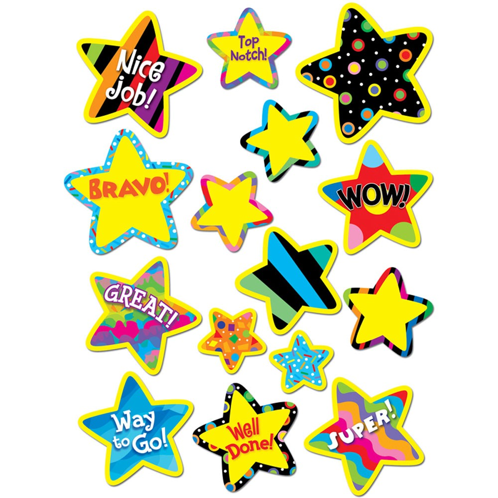 Poppin\' Patterns Bright Star Stickers.