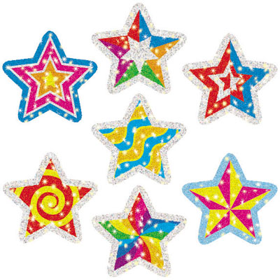 Star Stickers Clipart.