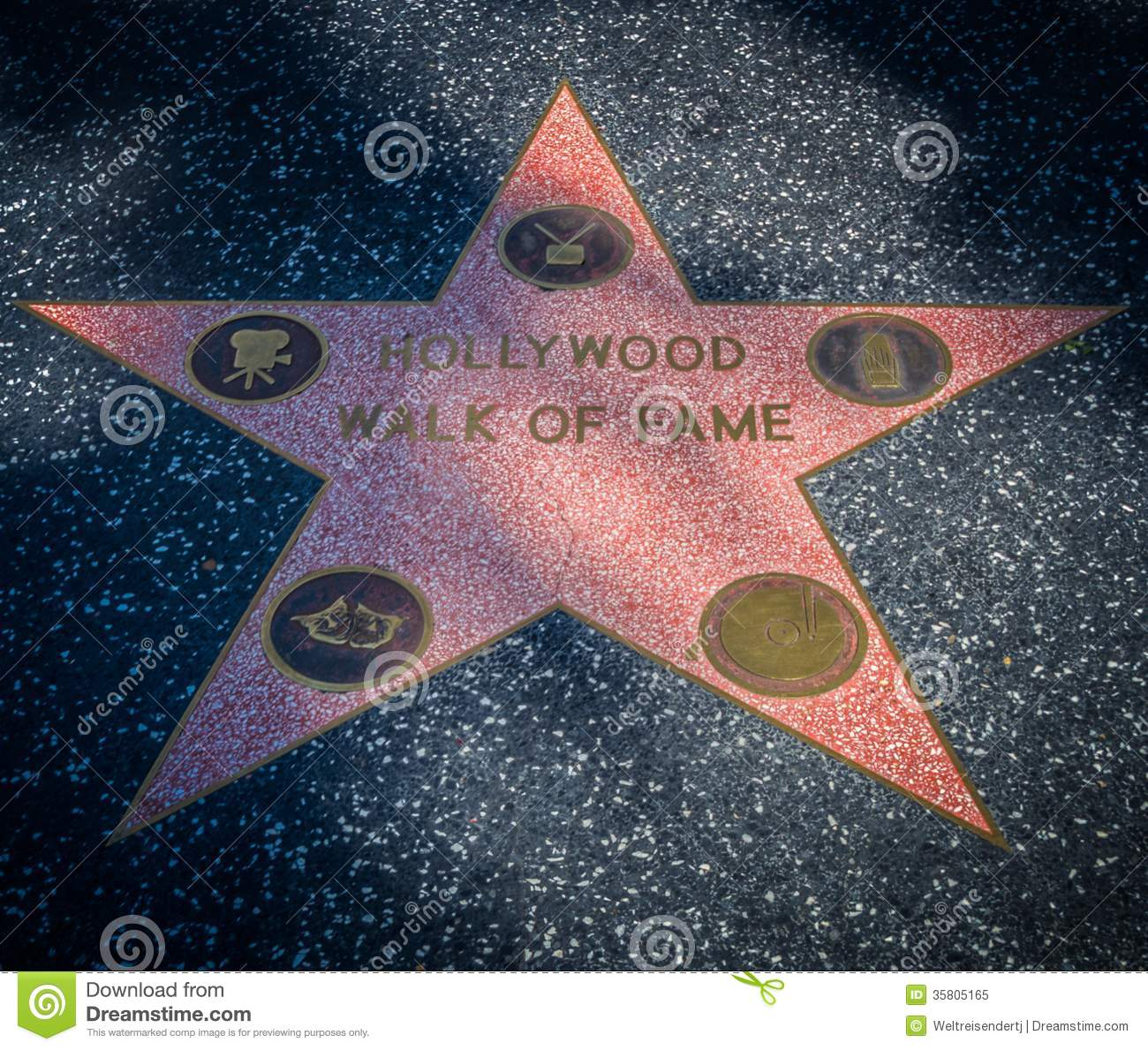Hollywood Walk Of Fame Star Editorial Image.