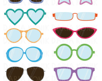 Star shaped glasses clipart.
