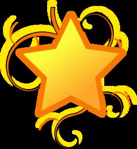 Star Swirl clip art.