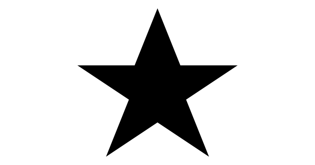 Favourites black star symbol.