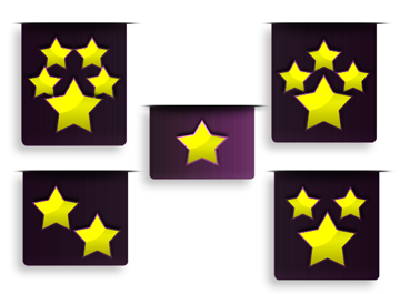 Five Star Rating Clip Art, Vector Five Star Rating.