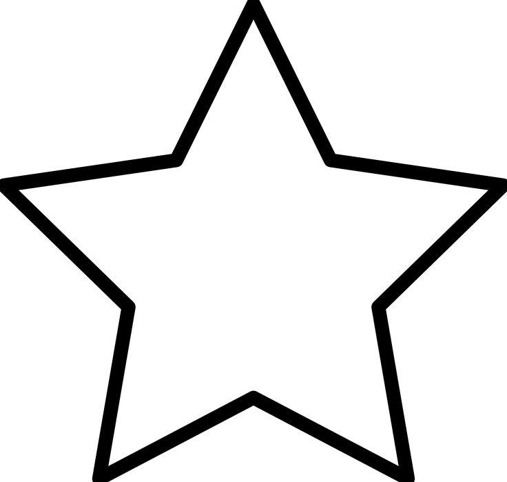 Christmas Star Outline.