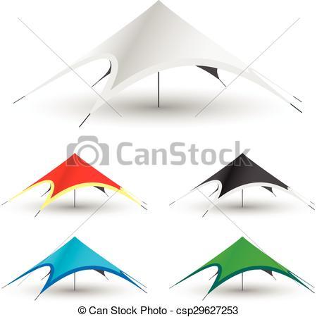 Clipart Vector of Gazebo Tent Icon.