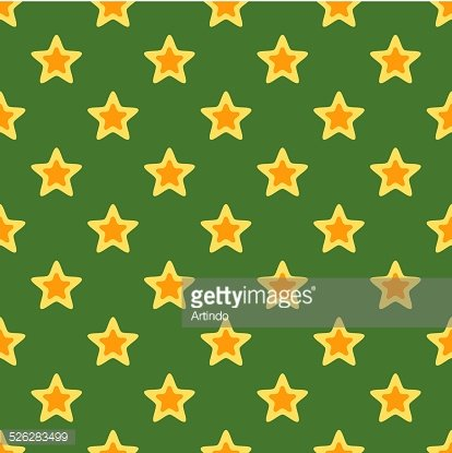Retro Christmas Texture with Stars Clipart Image.