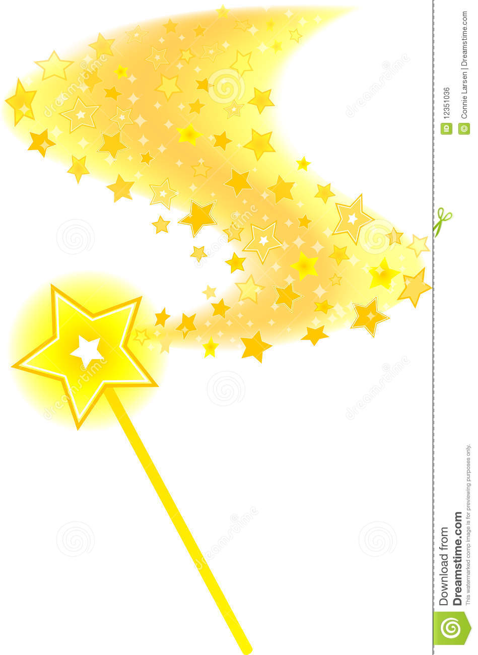 Magic Wand Star Trail Royalty Free Stock Image.