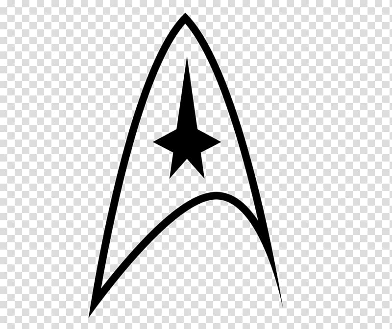 Black Star Trek logo, Logo Star Trek Starfleet Symbol, decal.