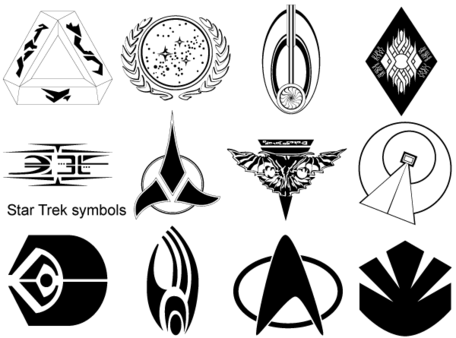 Free Star Trek Symbolss Clipart and Vector Graphics.