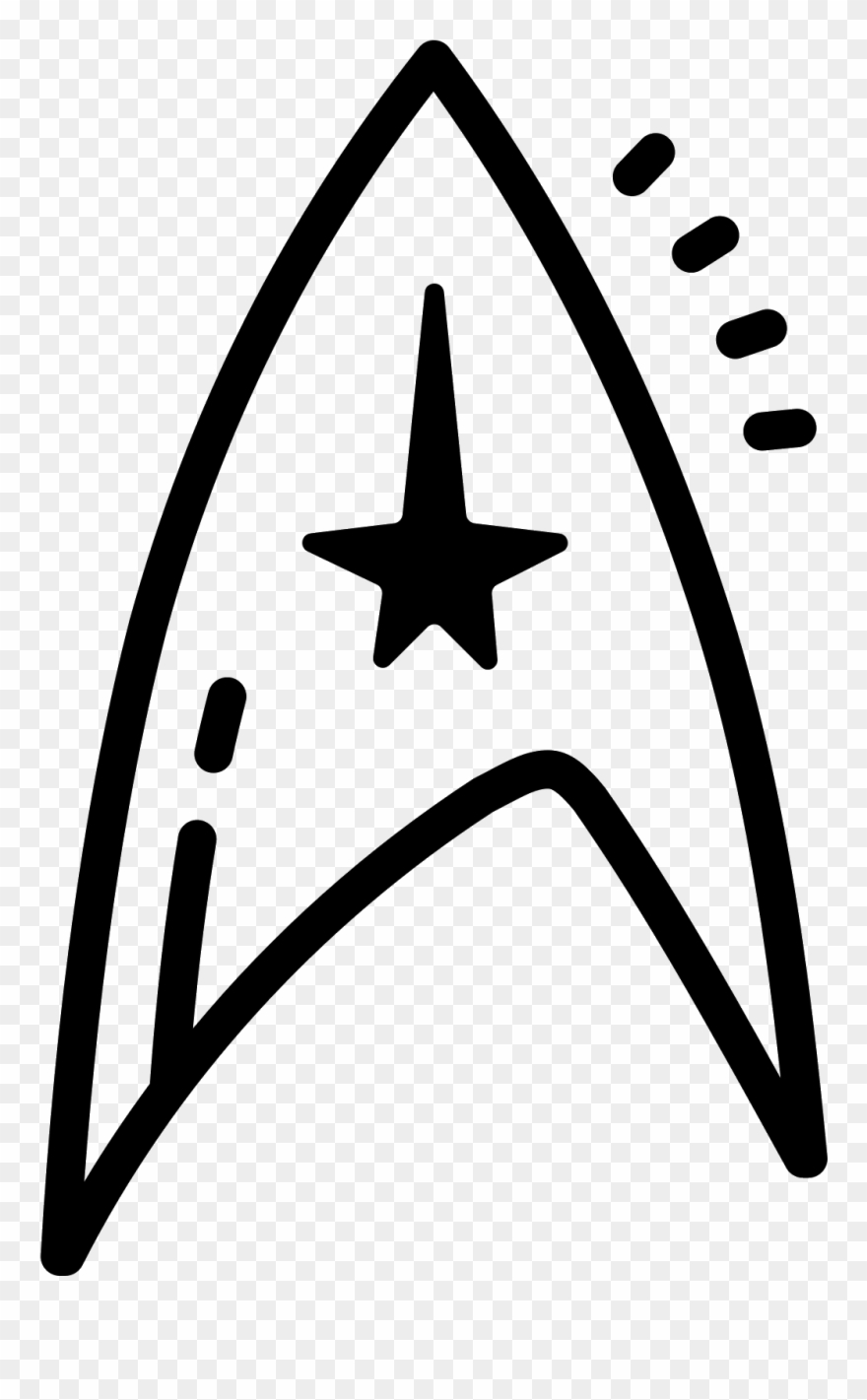 Star Trek Symbol Icon.