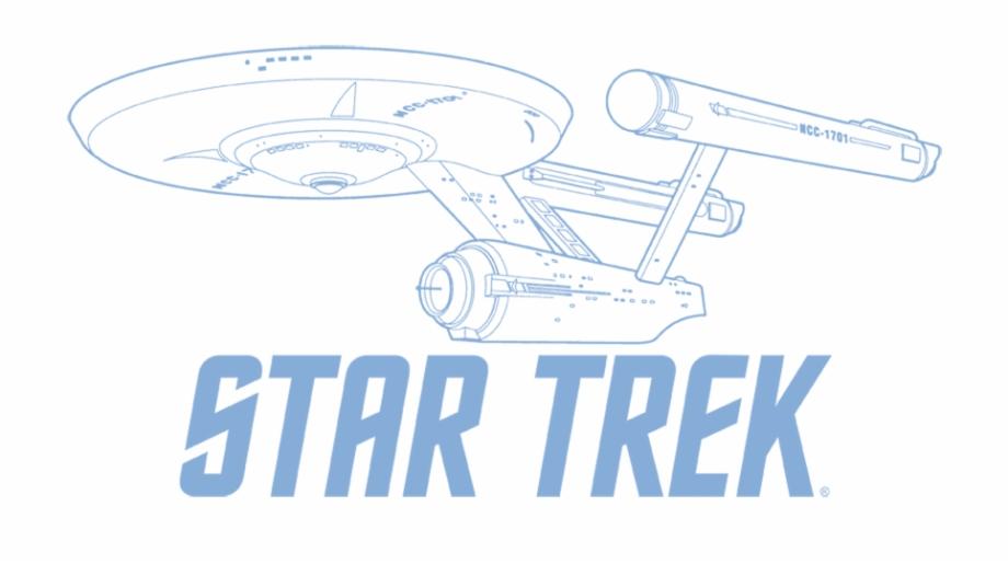Star Trek Enterprise Outline Men\'s Slim Fit T.