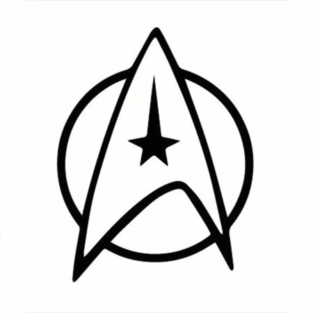 Star Trek Federation Logo Vinyl Decal.