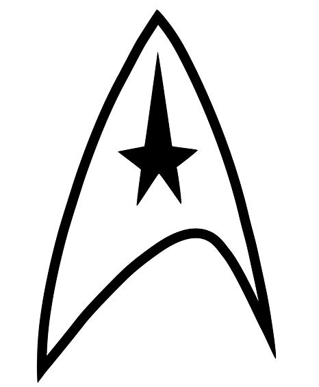 Star Trek Federation Logo Vinyl Car Truck Laptop Tablet Decal Sticker  (Black, 4\
