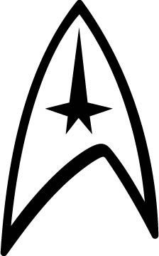 4 Star Trek Logo Vinyl Decal par thewarped923 sur Etsy.