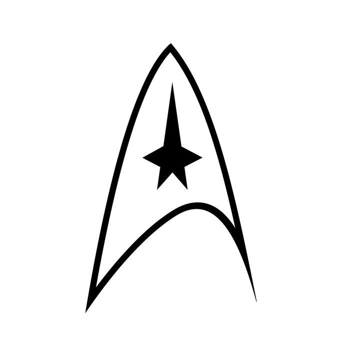 Star Trek Logo graphics design SVG DXF EPS.