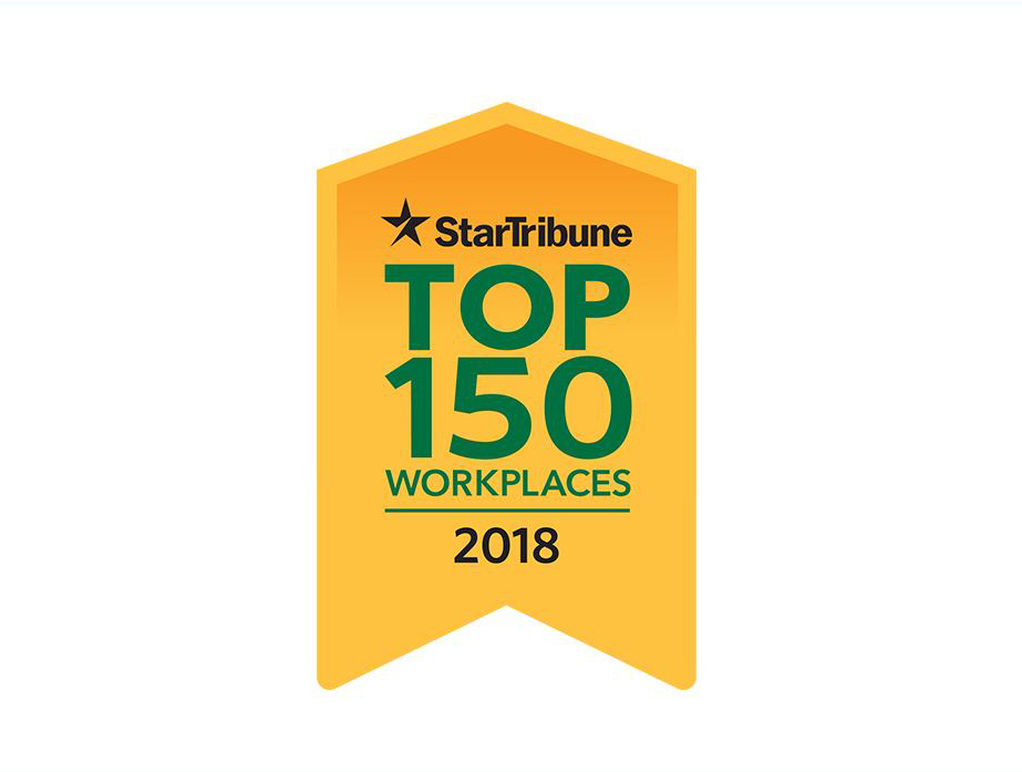 Star Tribune Top Workplaces of 2018.