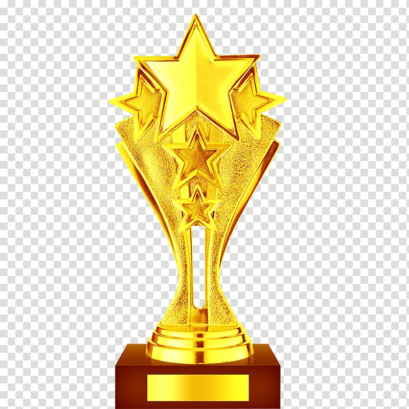 Gold star trophy art, Trophy , Gold Trophy material.
