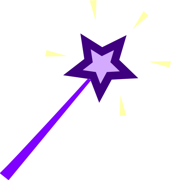 Purple Star Wand Clipart.
