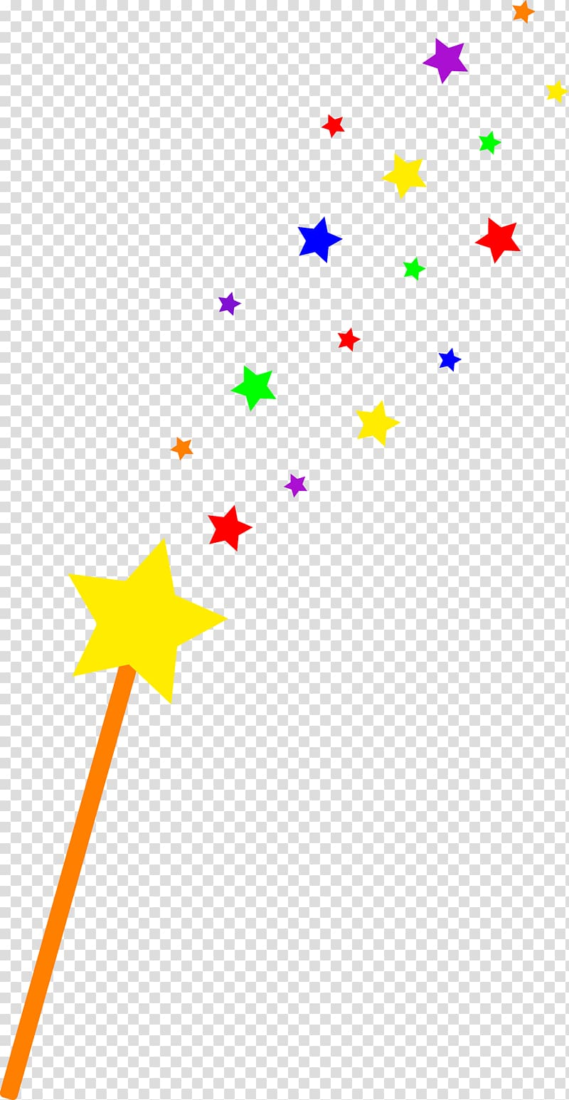 Wand Magician , Star Princess transparent background PNG.