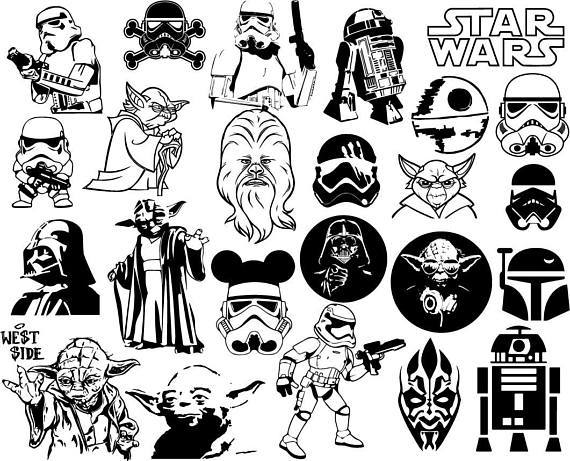 Star wars clipart black and white 4 » Clipart Portal.