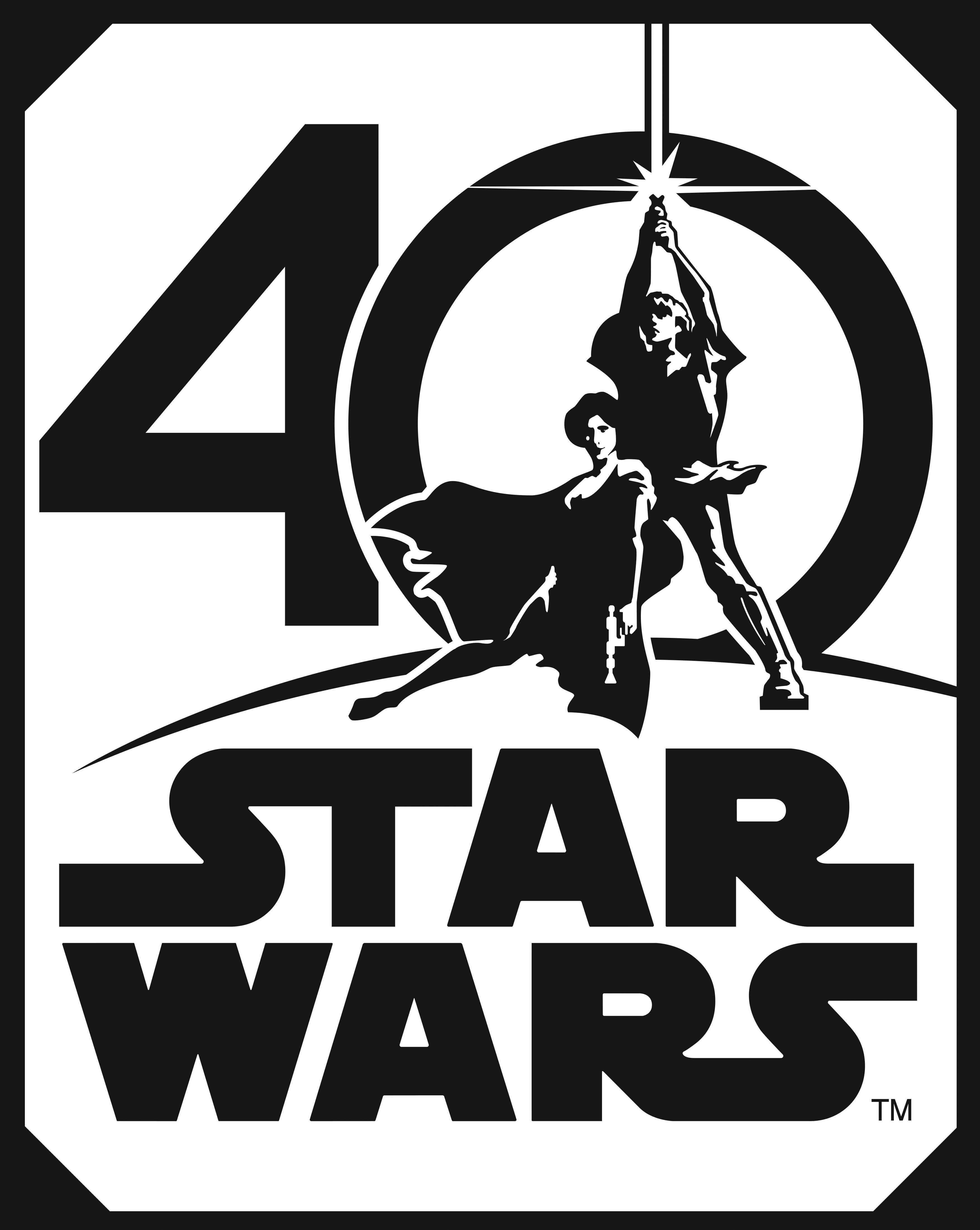 Star Wars 40th Anniversary Logo HD Hi.