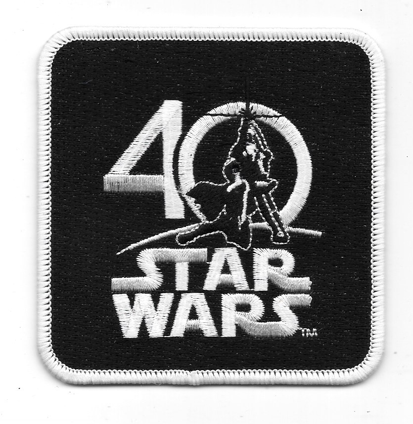 Star Wars Celebration VIII 40th Anniversary Logo Embroidered Patch NEW  UNUSED.