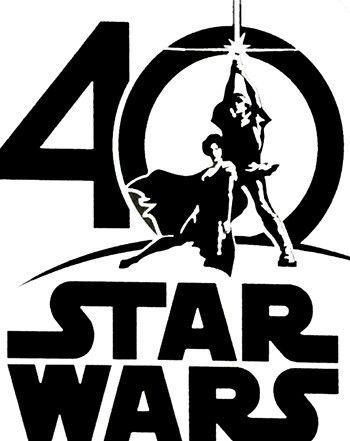 Star Wars 40th Anniversary Logo.