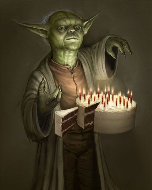 24 Cool Yoda of StarWars Illustrations.