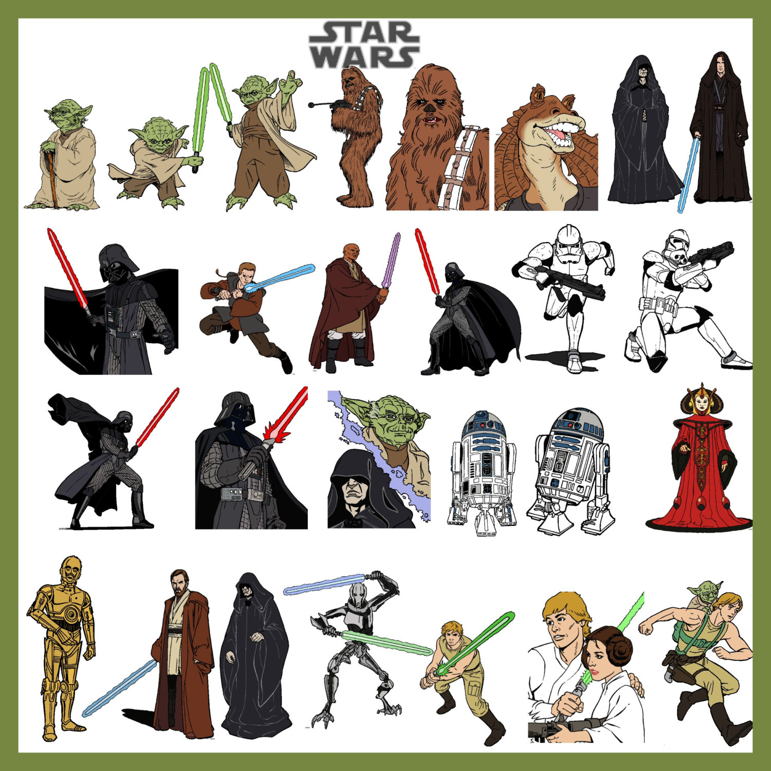 Star Wars Clipart Characters.