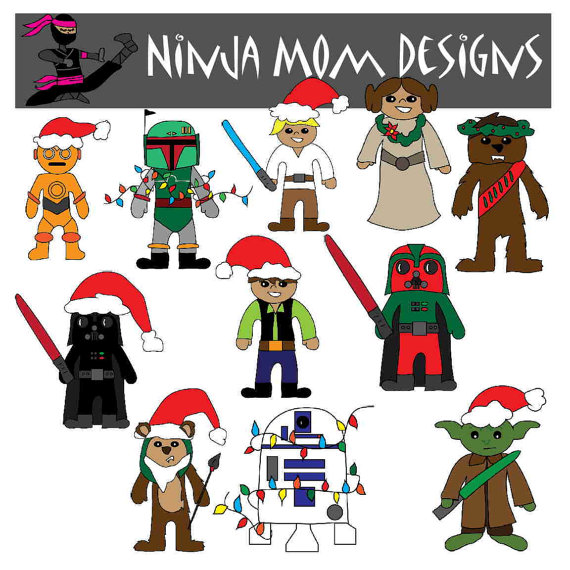 Download christmas star wars characters clipart Luke.