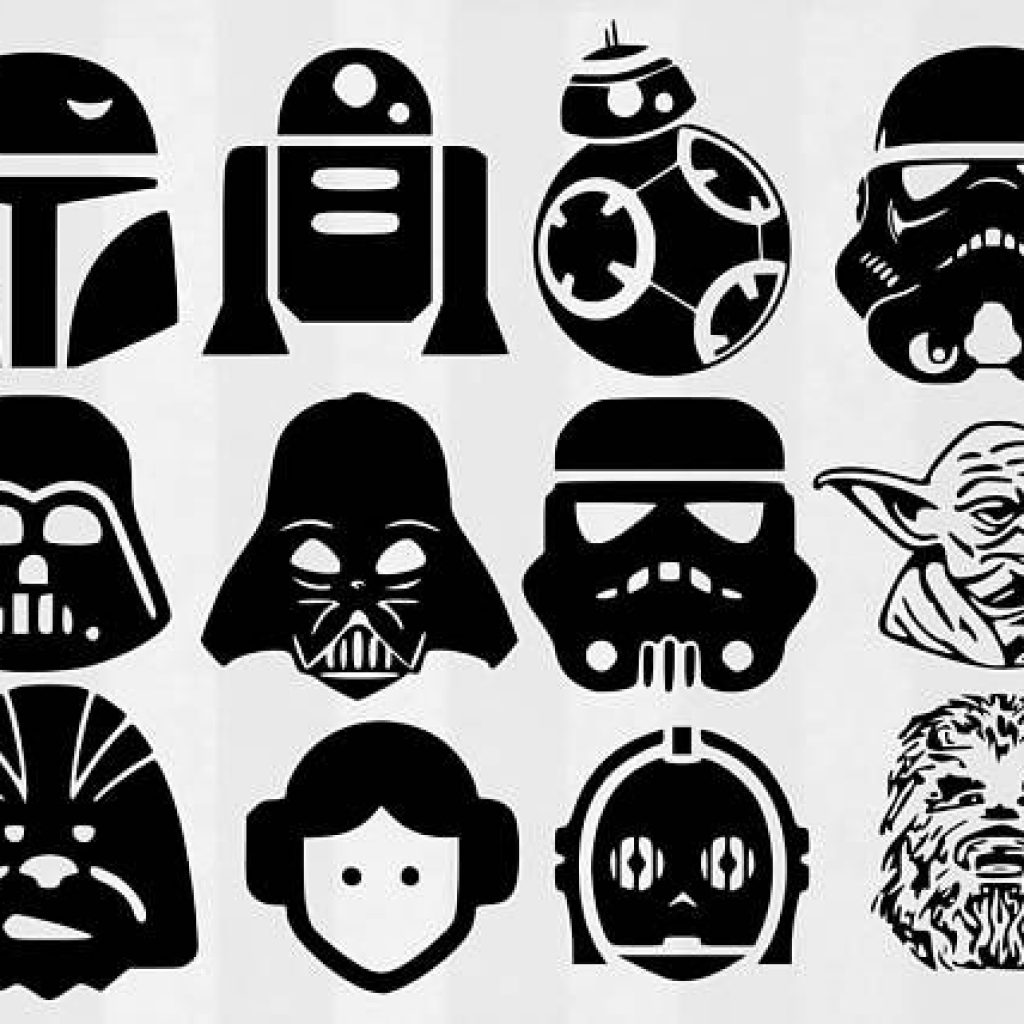Darth vader stencil star wars clipart beautiful starwars.