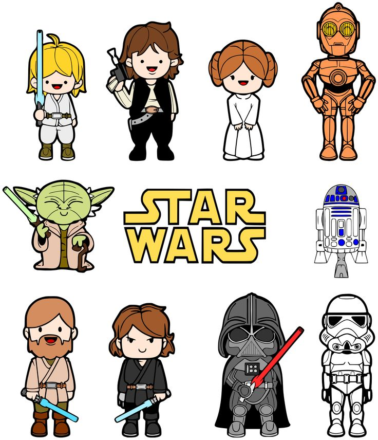 Star wars characters clipart.