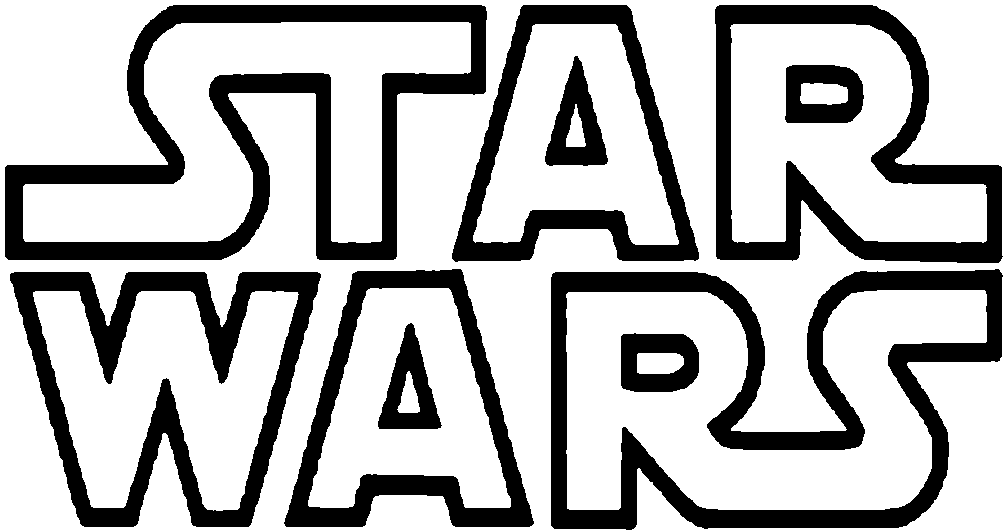 Star Wars PNG Black And White Transparent Star Wars Black.