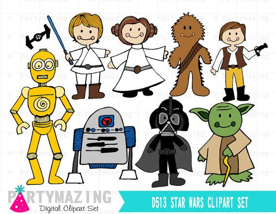 Star Wars Clipart, Space Wars Digital Clipart, Starwars Clip.