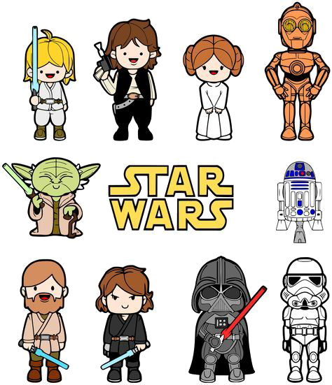 Star Wars Clipart Family.
